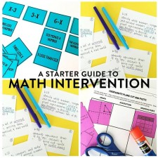 Meta Description: Many schools are implementing math intervention classes. Blocks, extended time, and labs are all geared to help students master the math content. I am sharing my favorite math intervention schedule.