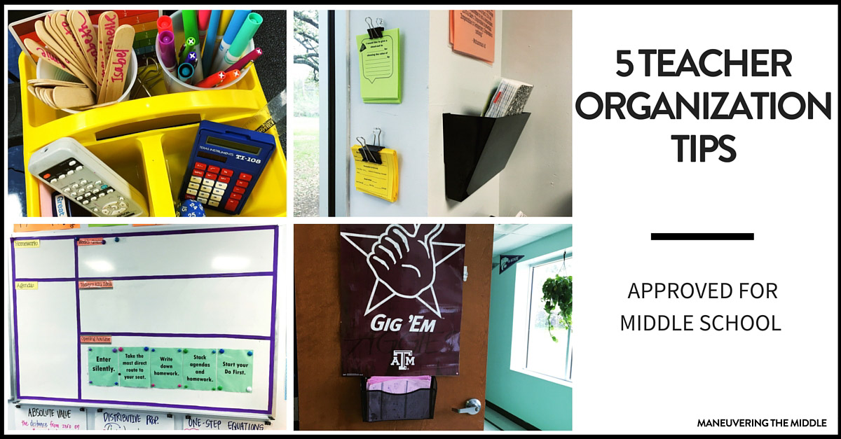 Classroom Decorating Ideas Middle School Math ~ Teacher organization tips for middle school