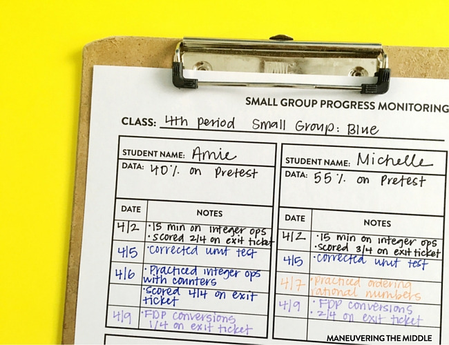 Differentiating for your students doesn't have to be complicated. Tips for how to organize math intervention in way that is both simple and effective. | maneuveringthemiddle.com