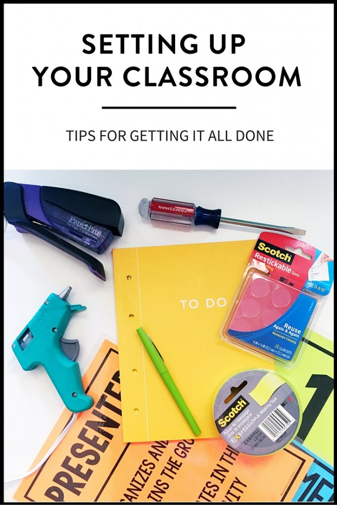 Getting your classroom set-up doesn't have to be stressful! Ideas for getting it all done efficiently and effectively, from classroom decor to organization.   maneuveringthemiddle.com