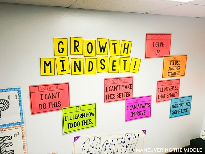 Great ideas and inspiration in this middle school classroom reveal - from decorating to small group areas to hanging posters and anchor charts. | maneuveringthemiddle.com