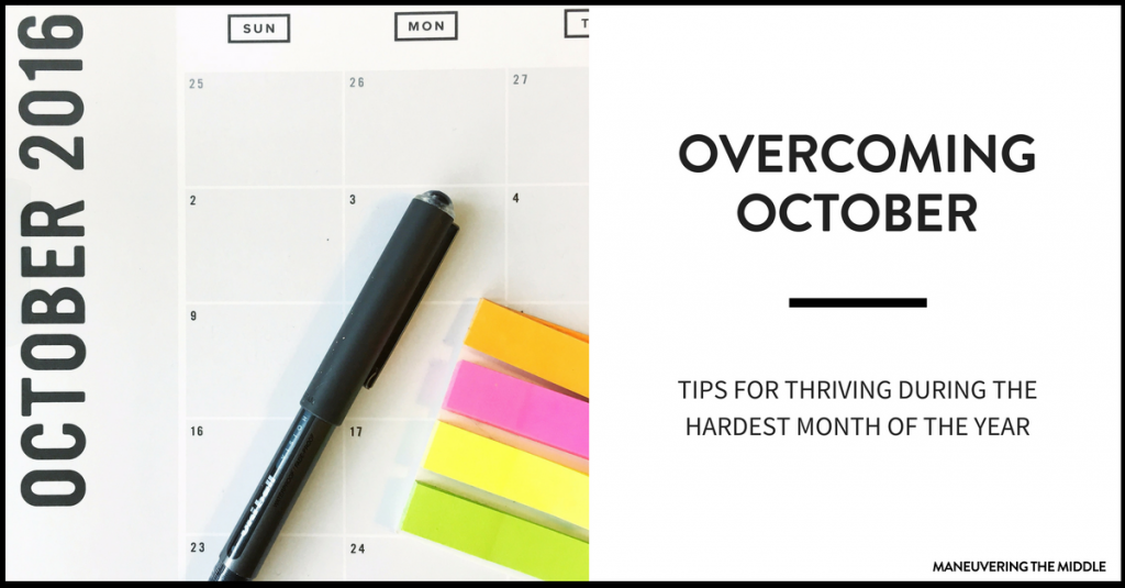 October can be one of the hardest teaching months of the year - 6 tips for Surviving the October Slump