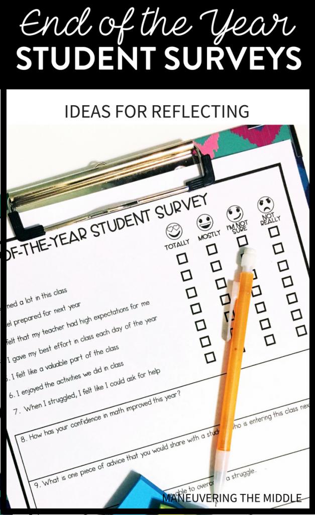 student surveys  an end