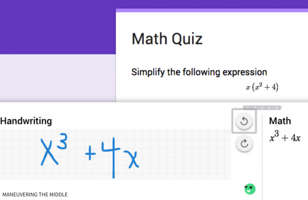 Google Forms is an excellent way to gather data in the math classroom. This post will discuss what Google Add-ons will improve your Google Forms in math. | maneuveringthemiddle.com