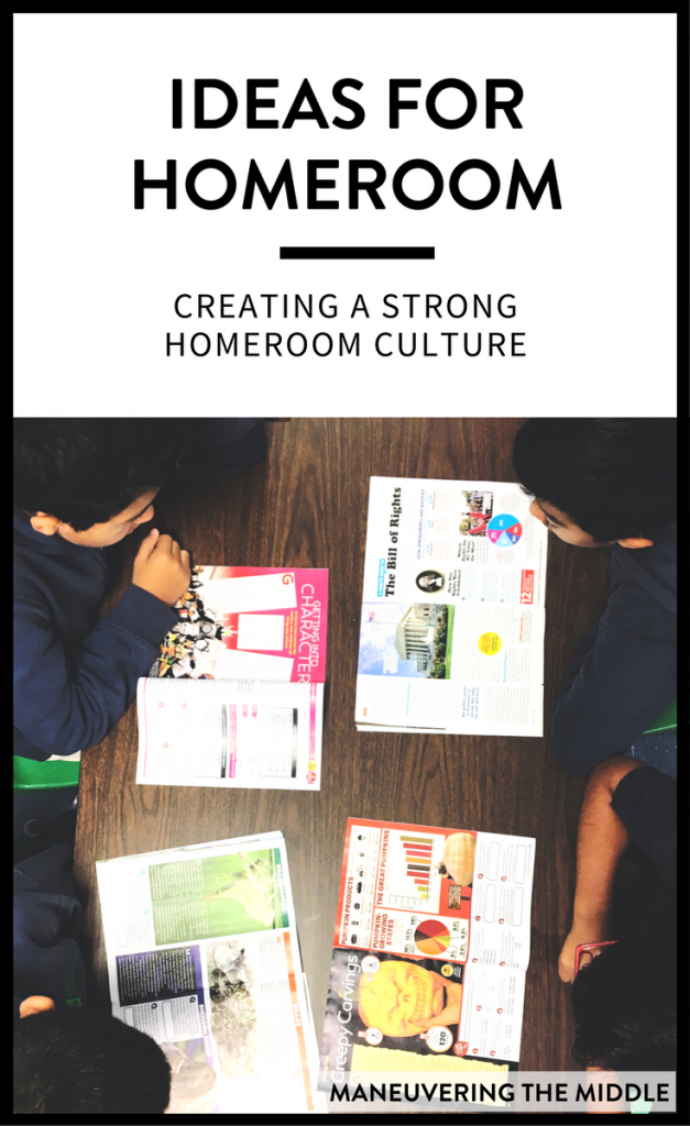 My school day and year is more successful when I have taken the time to make the most of my homeroom.  Here are ideas to make the most of your homeroom!   maneuveringthemiddle.com