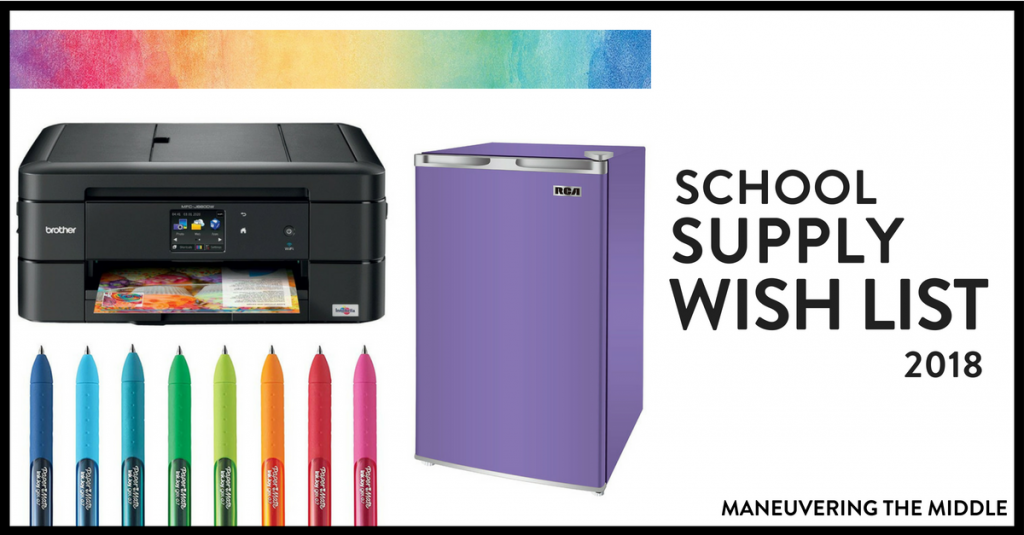 This is my 7th year teaching and these are the classroom supplies I want! This is the year I splurge on some big ticket items. | maneuveringthemiddle.com