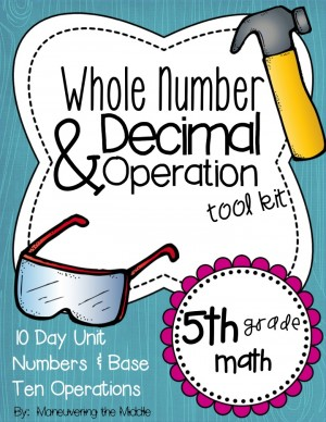 Whole Numbers & Decimal Operations {5th Grade}
