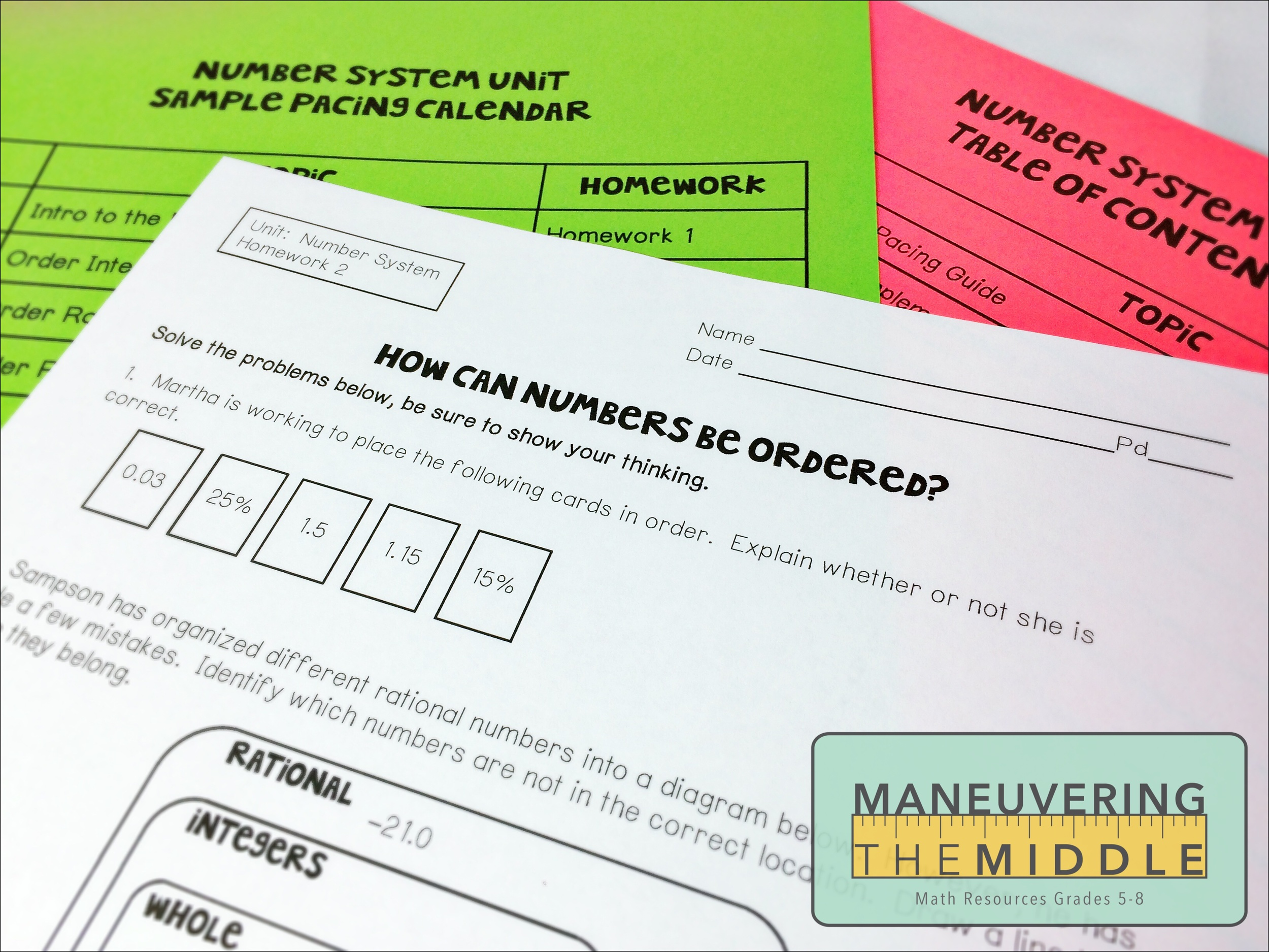 Resources for The Number System - Maneuvering the Middle
