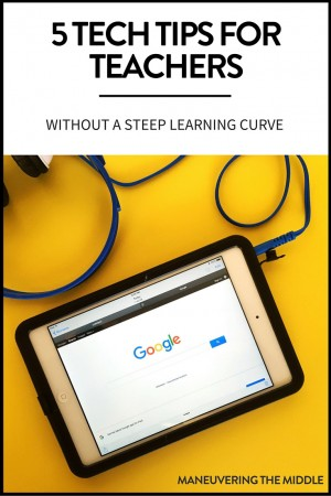 These 5 Tech Tools for the Classroom are a must for busy teachers! These are perfect for utilizing technology and don't have a steep learning curve.