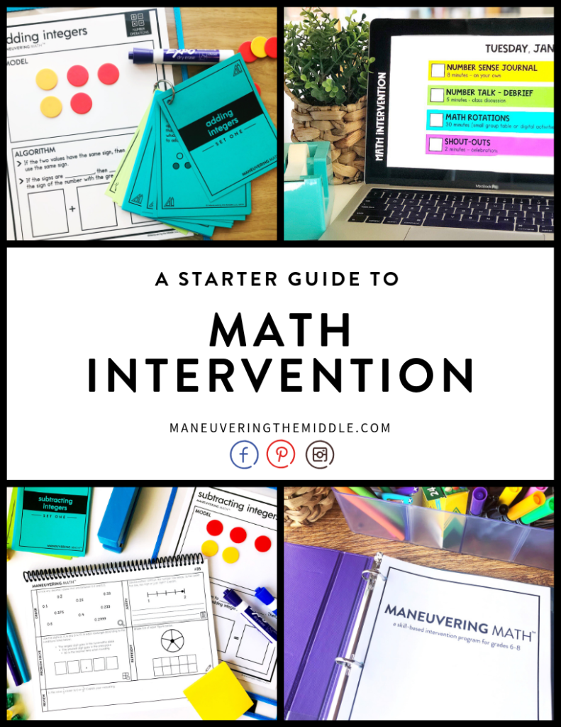 Many schools are implementing math intervention classes geared to help students master the math content. I am sharing my favorite math intervention schedule. | maneuveringthemiddle.com