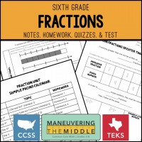 Fractions Unit | Maneuvering the Middle