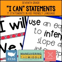 I Can Statements | Maneuvering the Middle