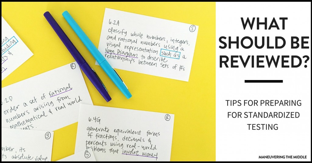 When planning a review for standardized testing, it is impossible to review it all. Three suggestions on where to place your time and energy.