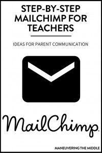 How to use MailChimp for teachers in 5 quick steps, as well as a ideas for incorporating a newsletter to increase parent communication in your classroom. | maneuveringthemiddle.com
