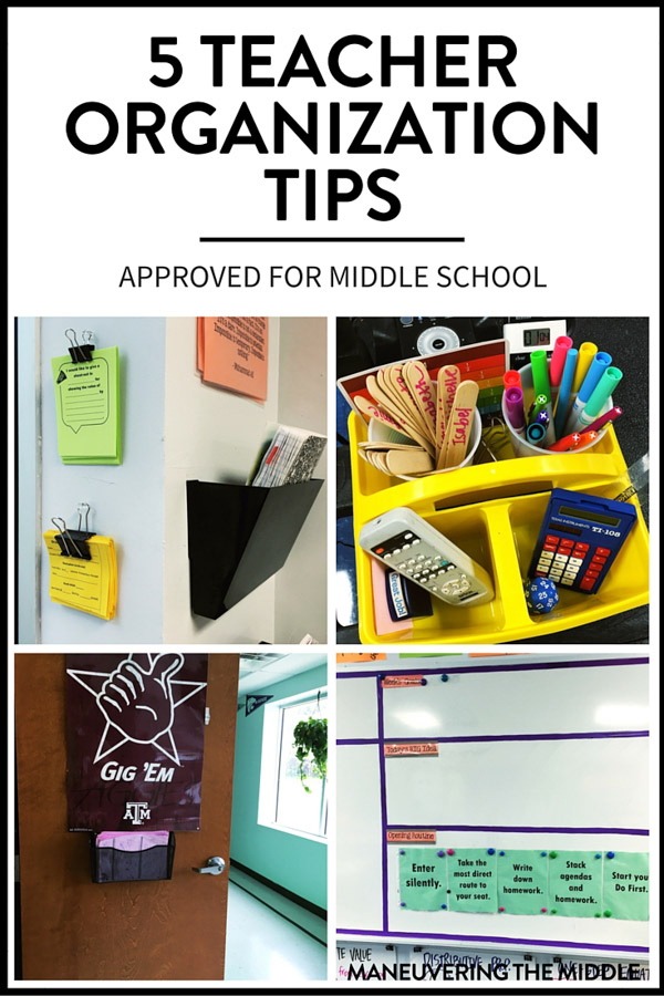 Classroom Setup Ideas For Middle School ~ Teacher organization tips for middle school