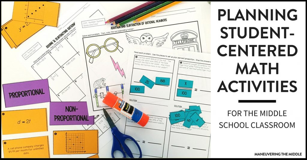 Five student-centered math activities that are easy to plan and implement. How to utilize math activities for all student levels.