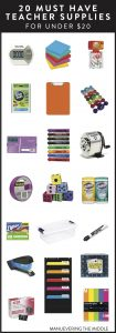 20 Teacher Supplies Under $20 - Must have supplies to stock your classroom with.