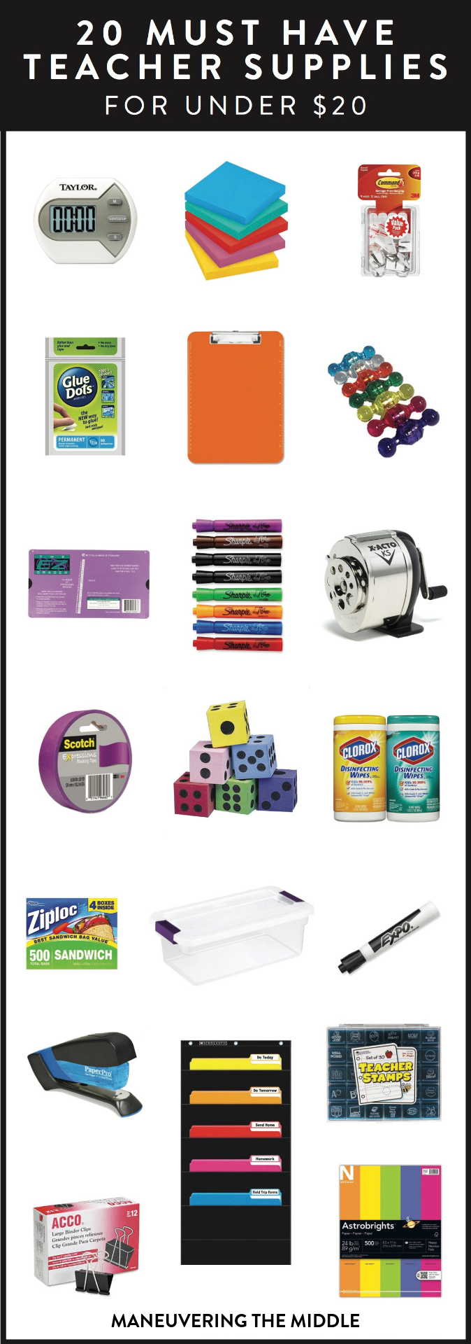 Teacher Supplies | maneuveringthemiddle.com