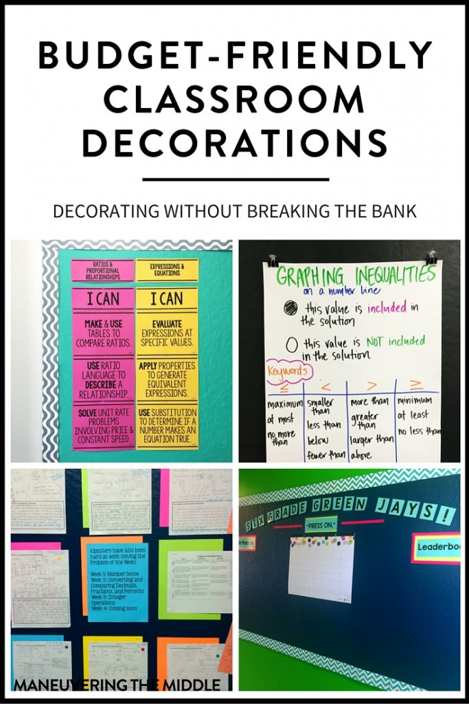 Classroom Decor On A Budget : Budget friendly classroom decorations maneuvering the middle