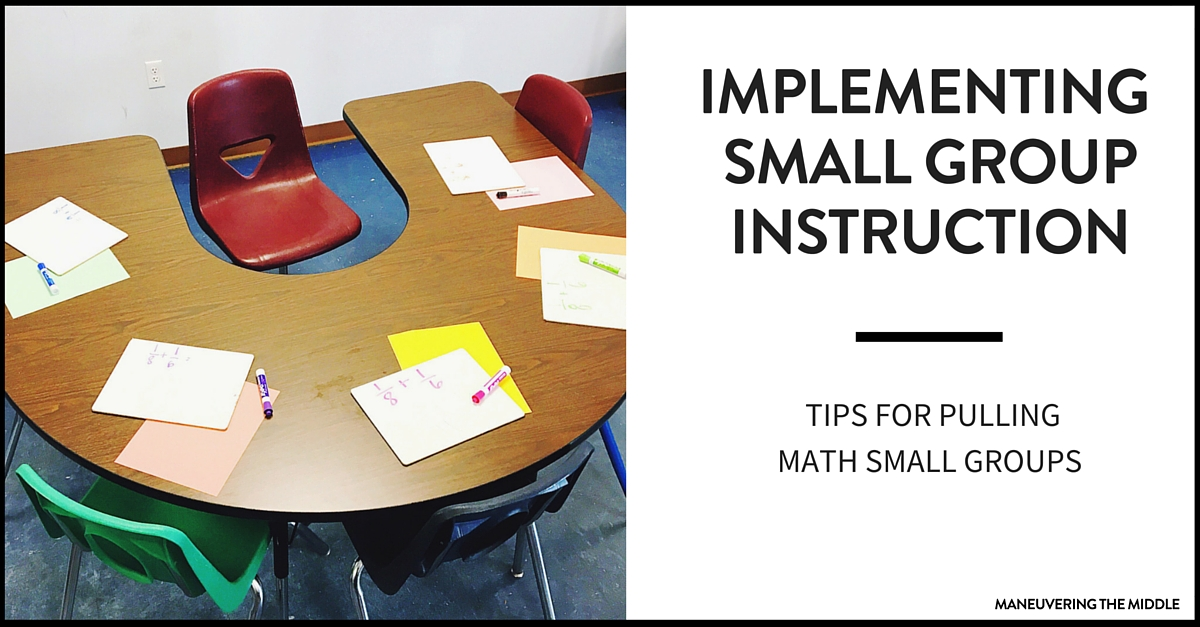 Classroom Design Techniques ~ Tips for implementing math small group instruction