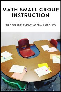 It is possible to use math small group instruction in middle school with a bit of upfront planning! Tips for implementation and ideas to get your math small groups running smoothly. | maneuveringthemiddle.com