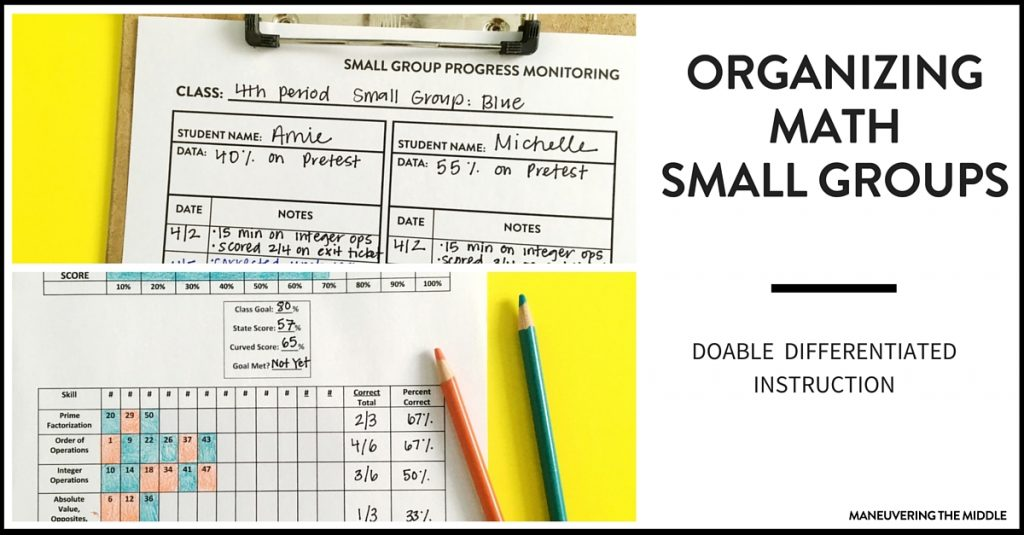 Ideas For Organizing Math Intervention Maneuvering The Middle