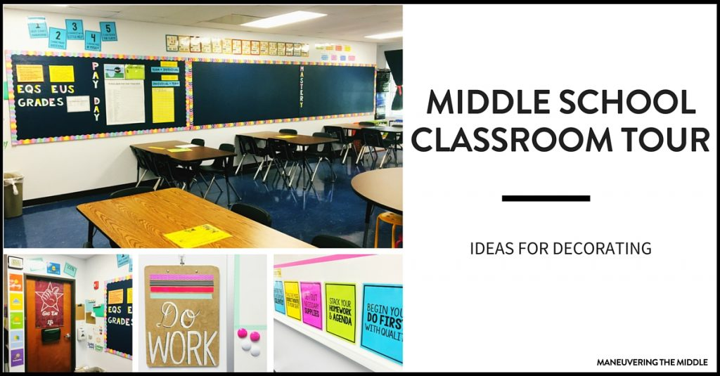 Great Ideas And Inspiration In This Middle School Classroom Reveal   From  Decorating To Small Group