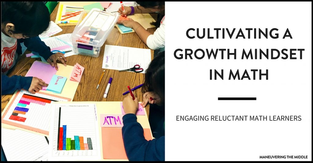 Communicating and teaching growth mindset can impact your students tremendously. Three ways to engage reluctant students through growth mindset. | maneuveringthemiddle.com