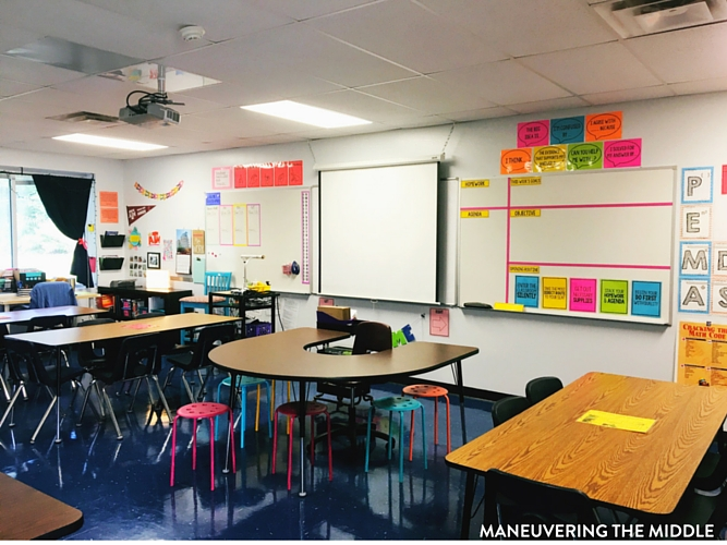 Classroom Design Guide ~ Middle school classroom tour maneuvering the