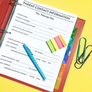 Organizing Parent Communication