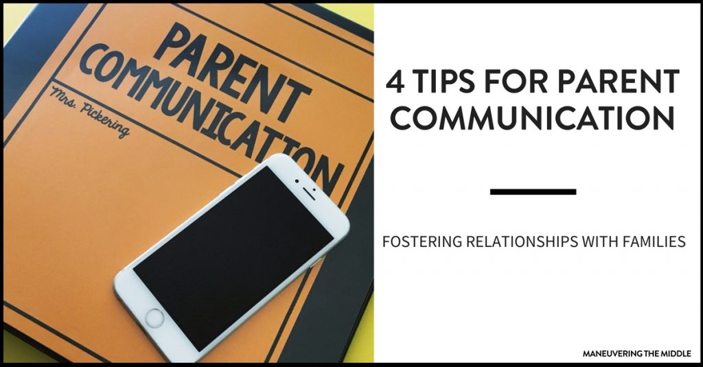 Parent communication can play a vital role in the success of a student. 4 tips for effective parent communication.