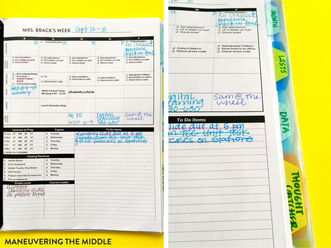 Every teacher needs some sort of organization system and my favorite is this teacher planner alternative. It meets all of my specific needs at a fraction of the cost. | maneuveringthemiddle.com
