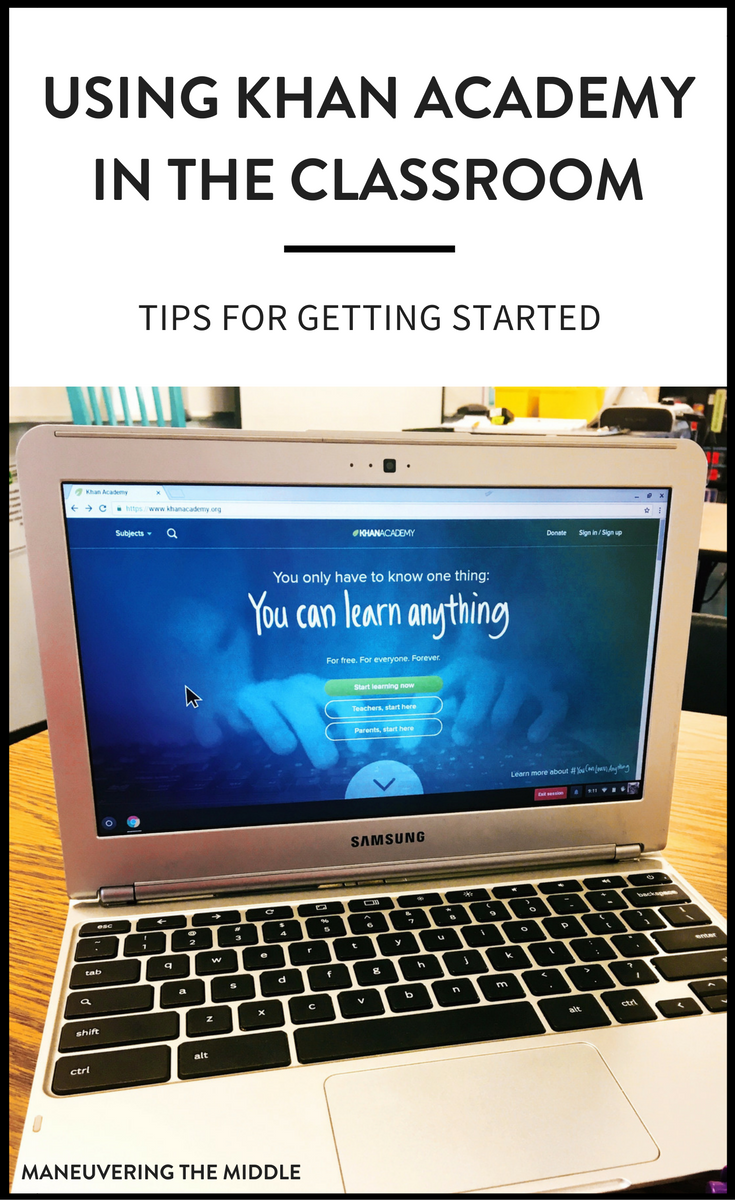 Khan Academy is valuable resource for differentiating in the math classroom. Tips for using Khan Academy effectively and efficiently! | maneuveringthemiddle.com