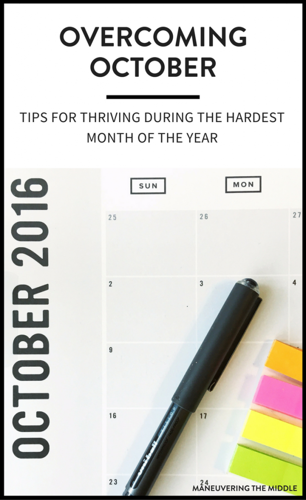 October can be one of the hardest teaching months of the year - 6 tips for Surviving the October Slump | maneuveringthemiddle.com