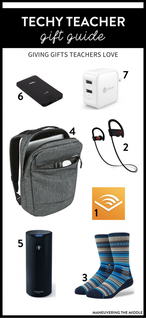 A collection of fabulous gift ideas. The techy teacher gift guide is perfect from Christmas to Teacher Appreciation! | maneuveringthemiddle.com