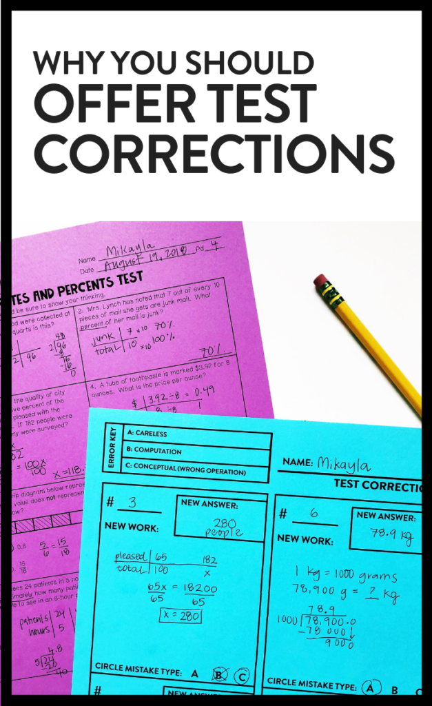 Using Test Corrections as a Tool for Mastery - Maneuvering