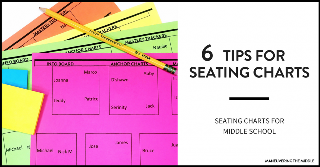 Creating seating charts for middle school students can make a key difference in your class. 6 tips for efficiently creating seating charts. | maneuveringthemiddle.com