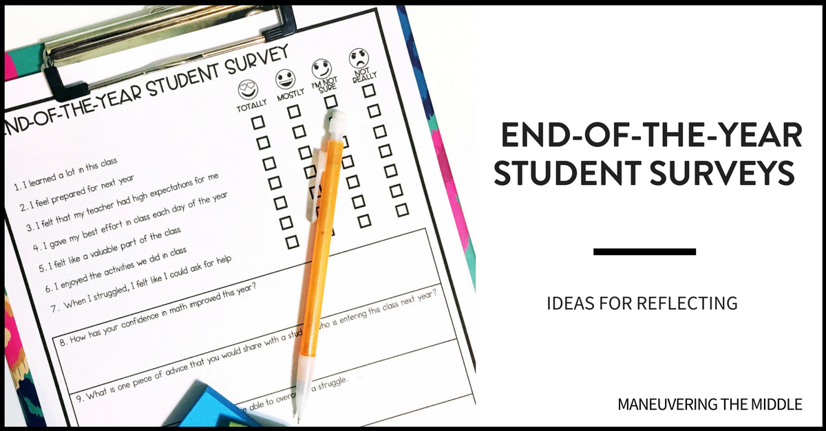 Student Survey FB - Maneuvering the Middle