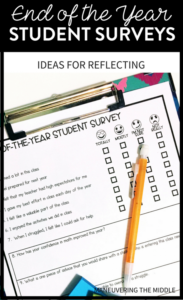 Student Surveys An EndoftheYear Reflection Maneuvering the – Student Survey