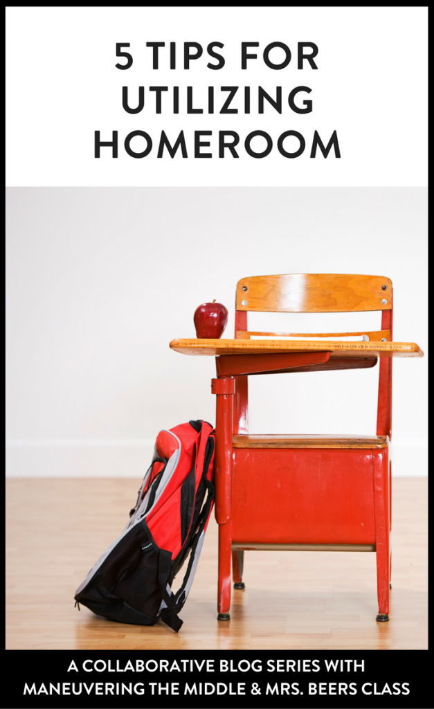 5 homeroom ideas to keep you sane and your class engaged! | maneuveringthemiddle.com