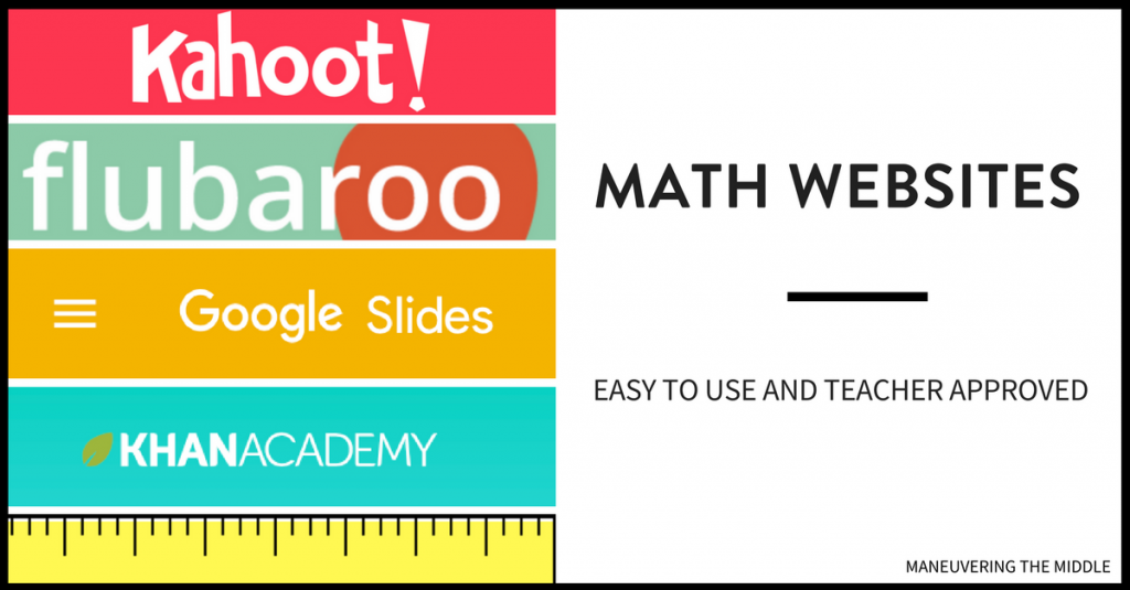 Engaging Websites for Middle School Math - Maneuvering the Middle