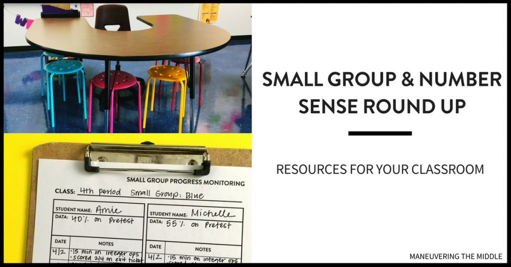 Here is a roundup of posts around the internet and our blog regarding small groups, math intervention and number sense in middle school. | maneuveringthemiddle.com