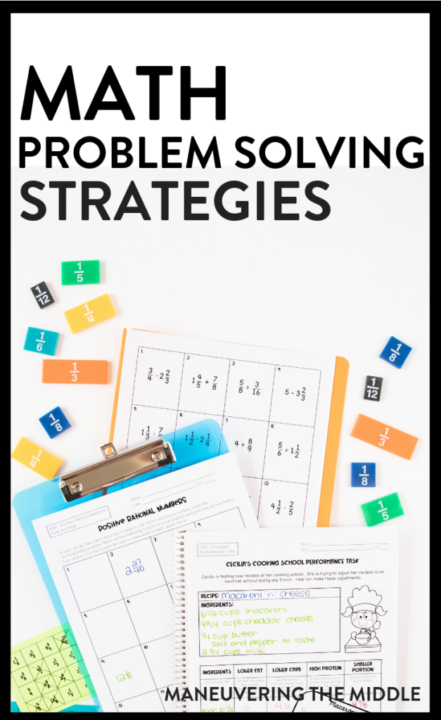 math problem solving strategies | maneuveringthemiddle.com