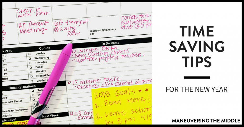 Time-Saving Tips for the New Year - Maneuvering the Middle