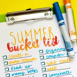 Teacher To-Do List: Summer 2018 Edition
