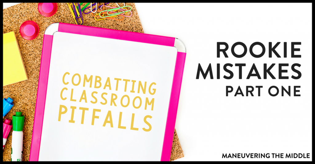 Are your students not following directions? Chances are that you are making this rookie teacher mistake. Find out how to prevent and fix this common classroom pitfall. | maneuveringthemiddle.com