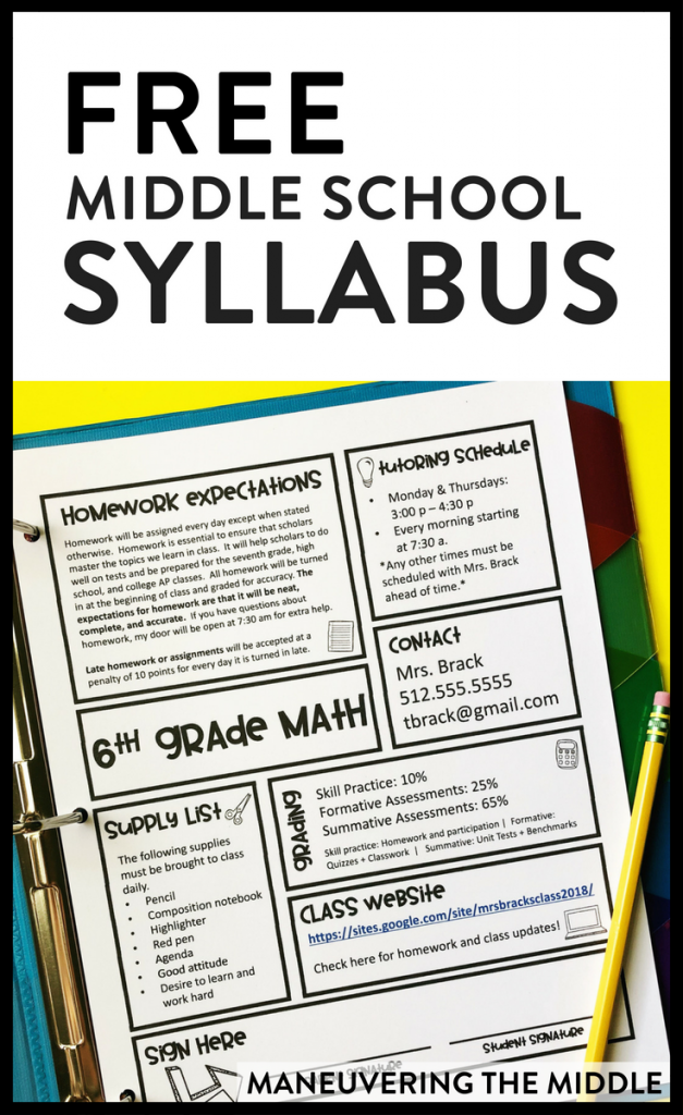 how to write a class syllabus