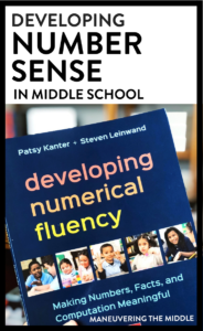 Developing number sense in middle school can be a struggle! What is numerical fluency? How can you incorporate number sense into grades 6-8? | maneuveringthemiddle.com