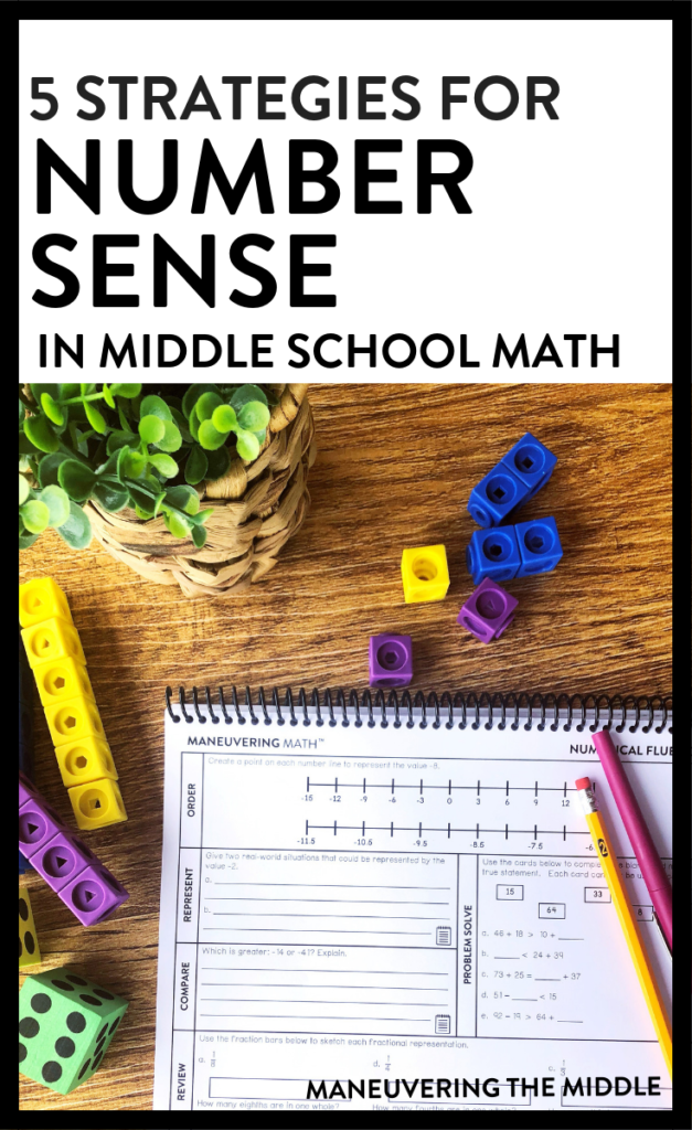 5 Strategies for Building Number Sense - Maneuvering the Middle