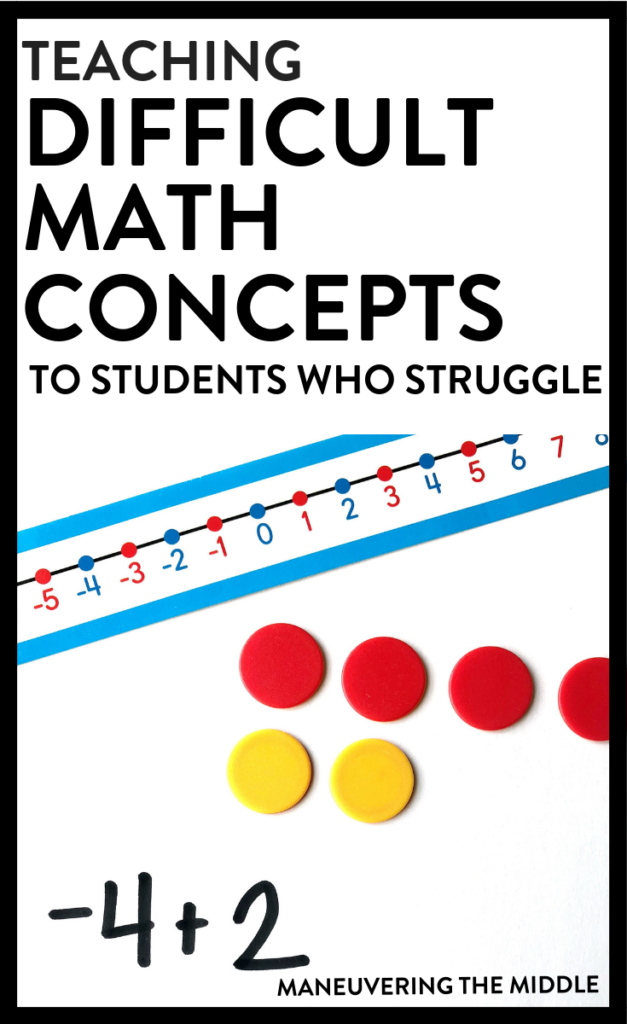 Using the concrete representational abstract sequence (CRA) is a great way to fill in gaps, teach difficult math concepts, and build a strong math foundation. | maneuveringthemiddle.com